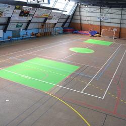Traçage terrain Basketball - Rennes - TRACE PLUS