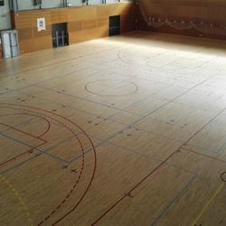 Marquage lignes terrains multisport - Montpellier - TRACE PLUS