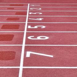 Marquage couloir athlétisme - NANTES TRACE PLUS