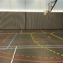 Traceur lignes de jeu gymnase - Clermont Ferrand - TRACE PLUS