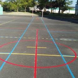 Rénovation lignes de terrain de sport extérieur - Angers - Trace Plus