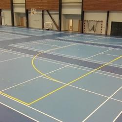 Traçage Terrain Badminton - Paris - TRACE PLUS
