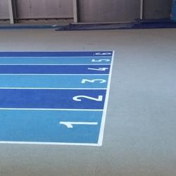 Rénovation couloir athlétisme - Angers - TRACE PLUS