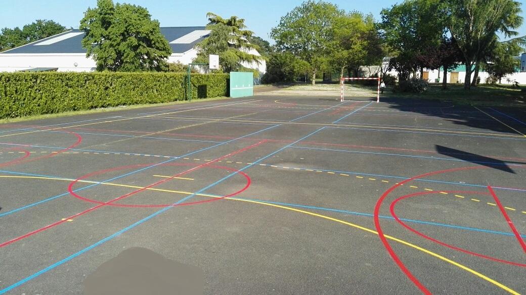 tracés de terrain de sport