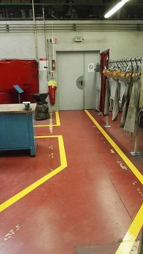 Marquage au sol industriel - Angers - TRACE PLUS