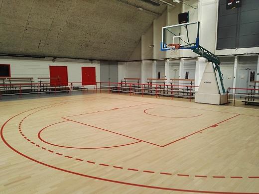 Nouveaux tracé terrain de basket -