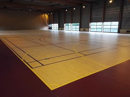 Implantation tracés sportifs pour salle de sport et gymnase