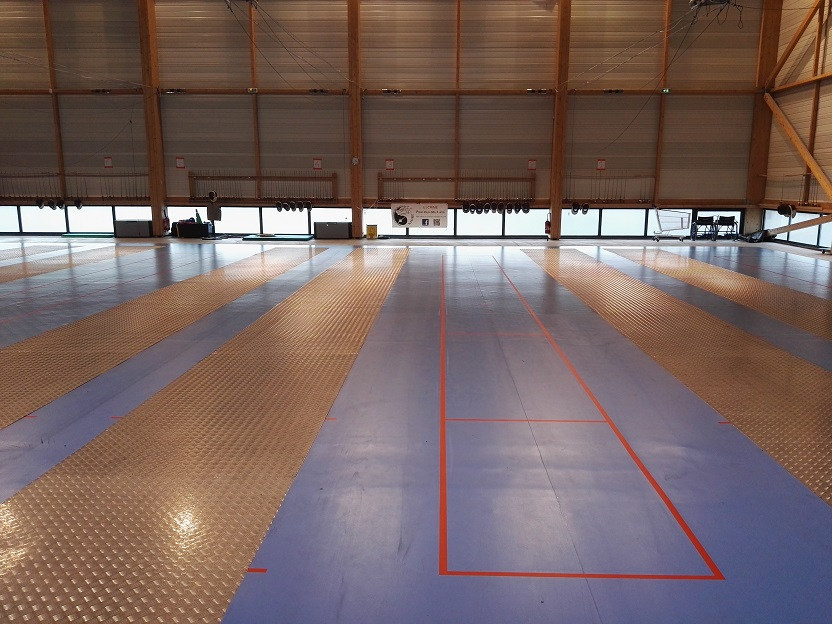 Marquage pistes d'escrime - Nantes - Sarl TRACE PLUS
