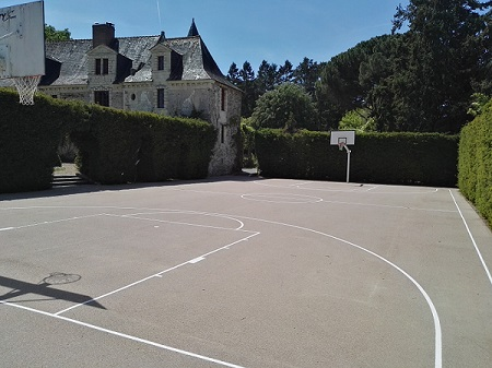 Peinture terrain de sport extérieur - Poitiers 86 - Sarl Trace Plus