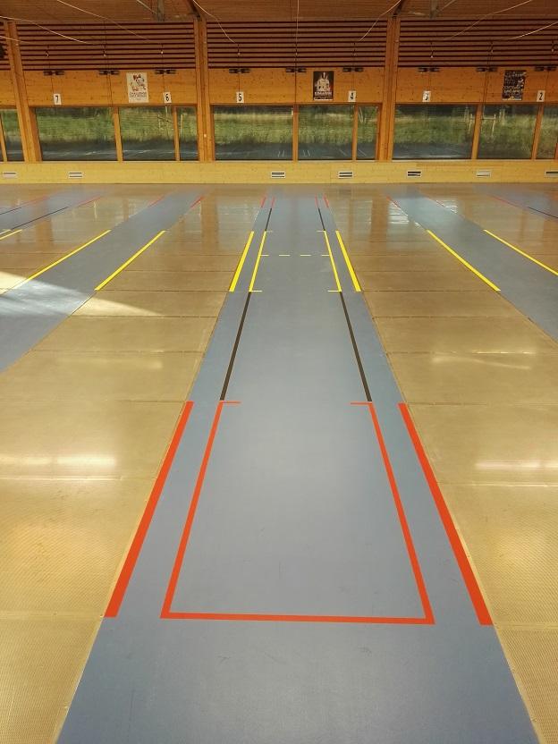 marquage au sol sportif - Nantes - Sarl Trace Plus