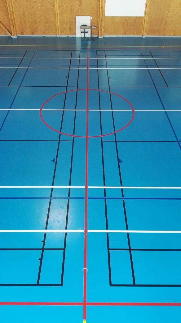 Tracage terrain badminton - Paris - Sarl Trace Plus