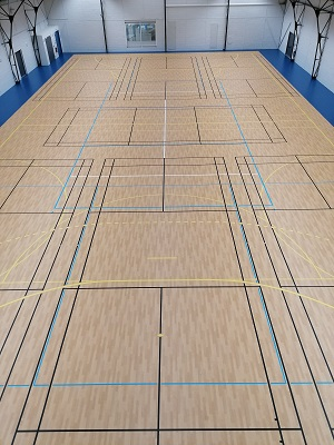 traçage badminton volley basket hand tennis - Dijon - Sarl TRACE PLUS