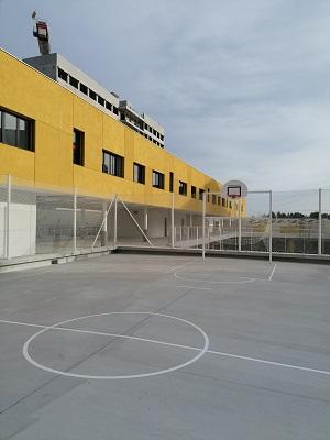 Traçage terrain multisport extérieur - Montpellier - TRACE PLUS