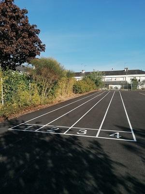 Retraçage terrain sport extérieur - Angers - Entreprise TRACE PLUS
