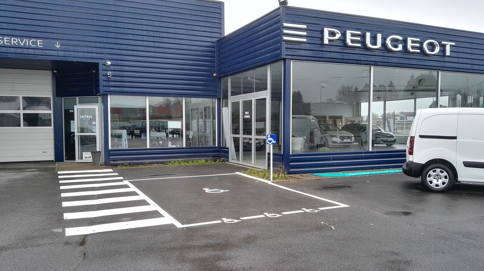 Aire d'examen Peugeot