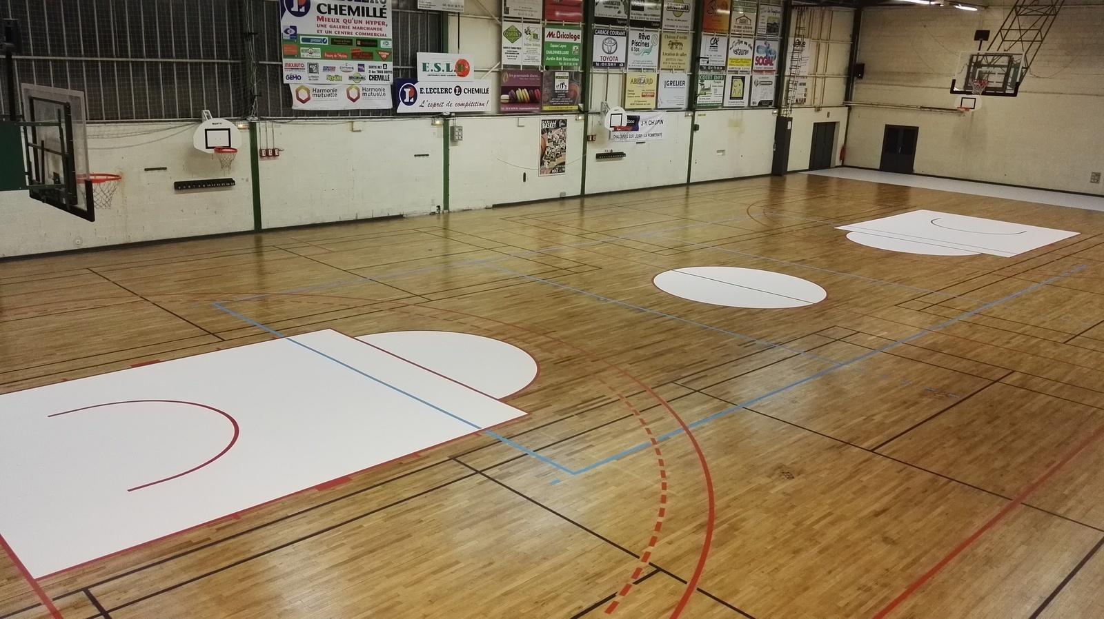 Marquages et tracés sportifs pour gymnases & salles de sports