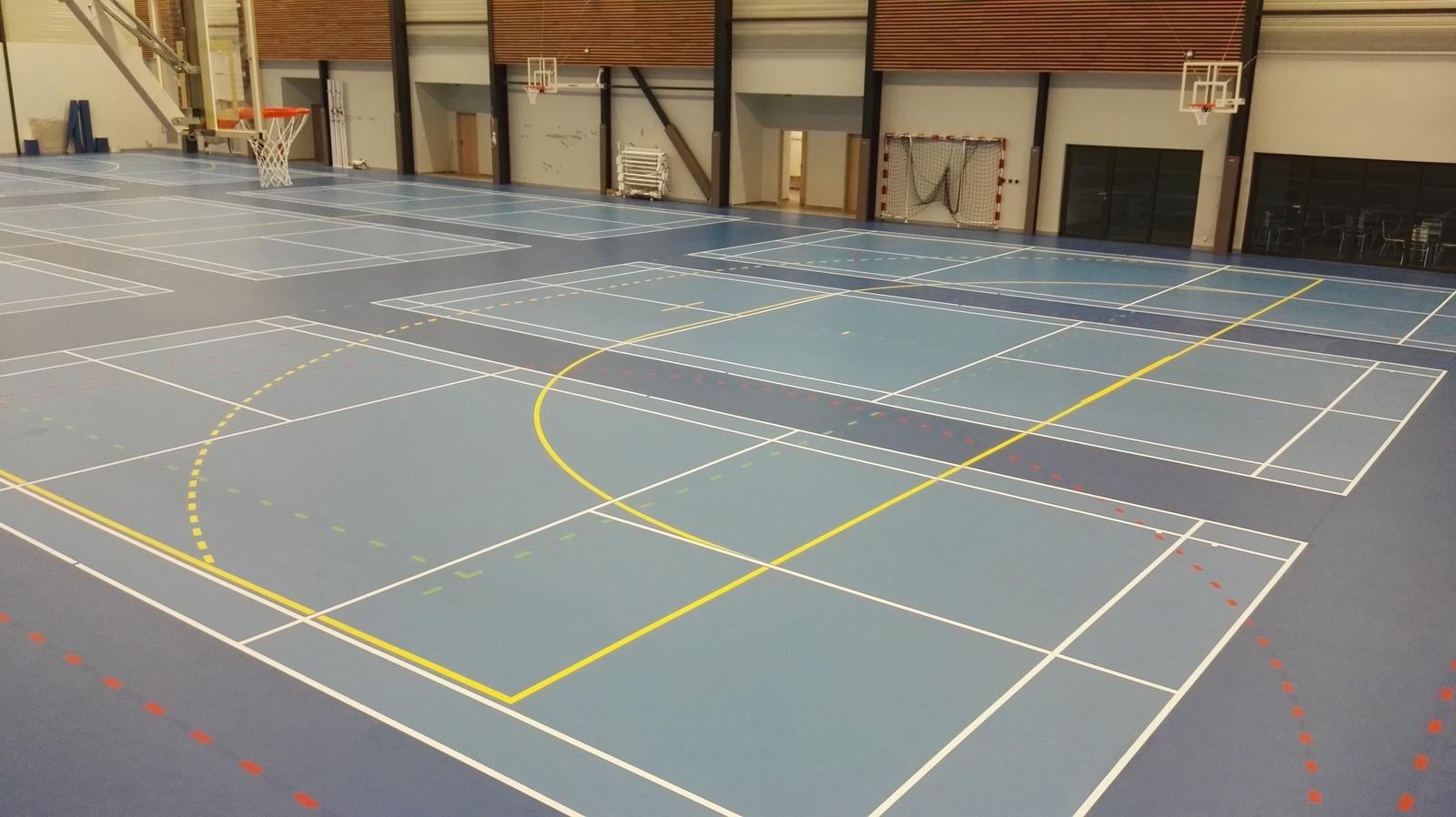 Tracés de badminton